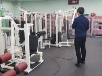 전문방역업체를 통한 체육관내 소독